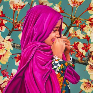 Blossom by Mousumi Biswas, Pop Art Painting, Oil on Canvas,