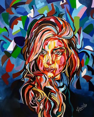 Mosaic of Colours by Samta, Pop Art Painting, Oil on Canvas Board,