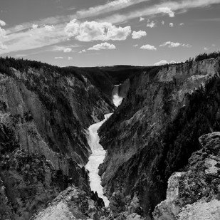 Mountainous Gorge by Ranjit Nandi, Image Photography, Digital Print on Archival Paper, Gray color