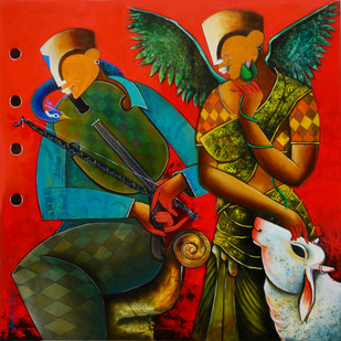 The Mesmerizing Tunes 4 Digital Print by anupam pal,Expressionism