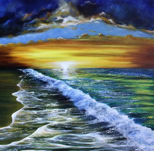 Ethereal by Shveta Saxena, Impressionism Painting, Acrylic on Canvas,