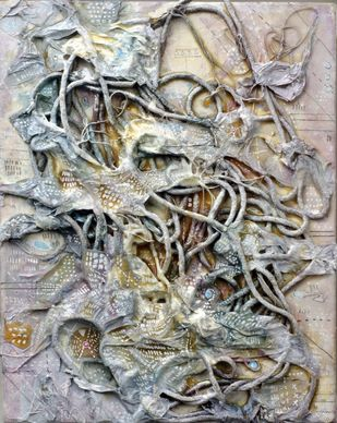 Leviathan - 6 by Viraag Desai, Abstract Painting, Mixed Media on Canvas,