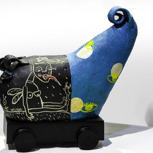 WARRIOR 6 by Srinia Chowdhury, Expressionism Sculpture | 3D, Ceramic,