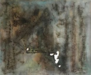 Untitled by Sweety Joshi, Abstract Painting, Burnt Marks on Paper,