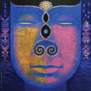 Santulan-1 by Sunil Balkawade, Expressionism Painting, Acrylic on Canvas,