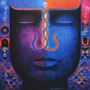 Santulan-3 by Sunil Balkawade, Geometrical Painting, Acrylic on Canvas,