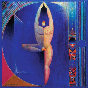 Aaradhana by Sunil Balkawade, Expressionism Painting, Acrylic on Canvas,