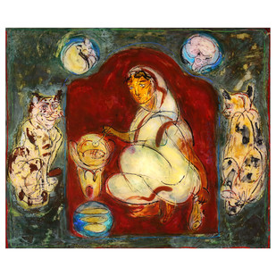 Mother by Subroto Mandal, Expressionism Painting, Acrylic on Acrylic Sheet, Brown color