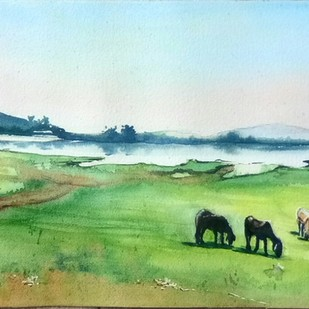 Chikmagalur landscape Digital Print by Lasya Upadhyaya,Impressionism