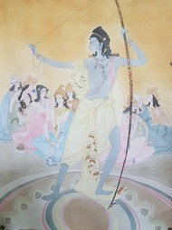 The mahabharat by Zehra hussain, Expressionism Painting, Pen, pencil, watercolour on paper, Beige color