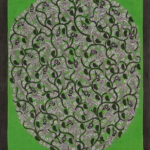 Birds Digital Print by Sarita Devi,Folk