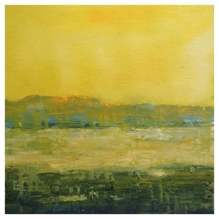 Landscape 2019_05 by Anamika S, Abstract Painting, Acrylic on Canvas, Beige color