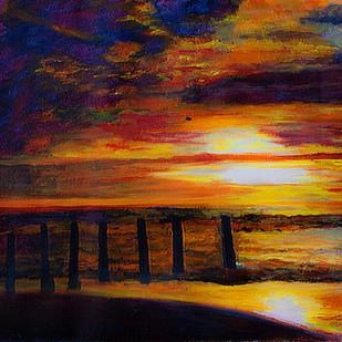 The Sunrise by Pankaj Kumar, Abstract Painting, Acrylic on Canvas, Brown color