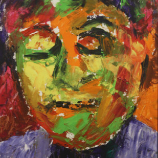 Portait_1 by Shruti Soharia Singh, Expressionism Painting, Acrylic on Board, Brown color