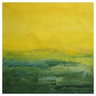 Landscape 2019_04 by Anamika S, Abstract Painting, Acrylic on Canvas, Green color
