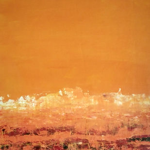 Landscape 2019_15 by Anamika S, Abstract Painting, Acrylic on Canvas, Brown color