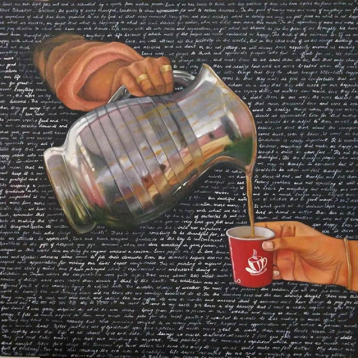 Gratitude Digital Print by Chandni Gulati,Surrealism