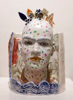 The Fabula by Falguni Bhatt Sanghavi, Art Deco Sculpture | 3D, Ceramic, Pink color
