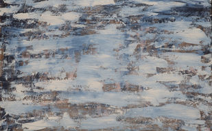 Snowstorm by Adil Ladha, Abstract Painting, Acrylic on Wood, Gray color