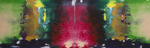 Walk through the Garden by Adil Ladha, Abstract Painting, Acrylic on Canvas, Green color