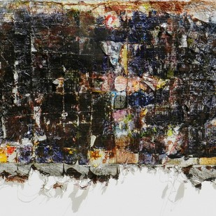 Untitled by Sanjay Sawant , Abstract Painting, Mixed Media on Paper, Gray color