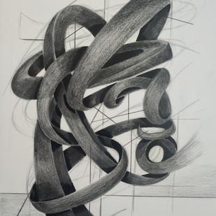 Breath Of Life by AASHISH TANWAR, Illustration Drawing, Charcoal on Paper, Gray color