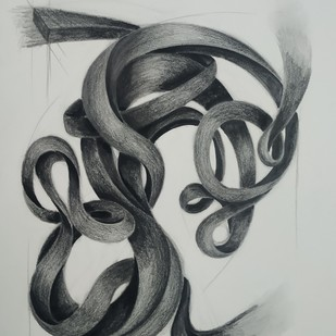 Breath Of Life 1 by AASHISH TANWAR, Illustration Drawing, Charcoal on Paper, Gray color