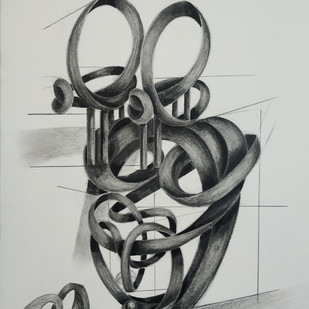 Breath Of Life 3 by AASHISH TANWAR, Illustration Drawing, Charcoal on Paper, Gray color