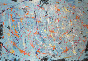 Winter Map by Roshni Tosher H, Abstract Painting, Acrylic on Canvas, Gray color