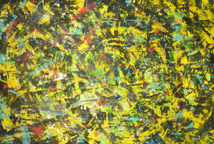 Buffalo Spiral by Roshni Tosher H, Abstract Painting, Acrylic on Canvas, Green color