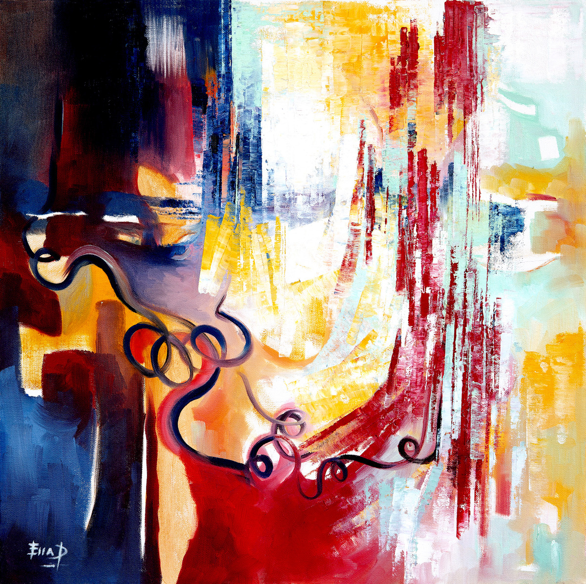 Enlightenment by Ella Prakash, Abstract Painting, Oil on Canvas, Brown color