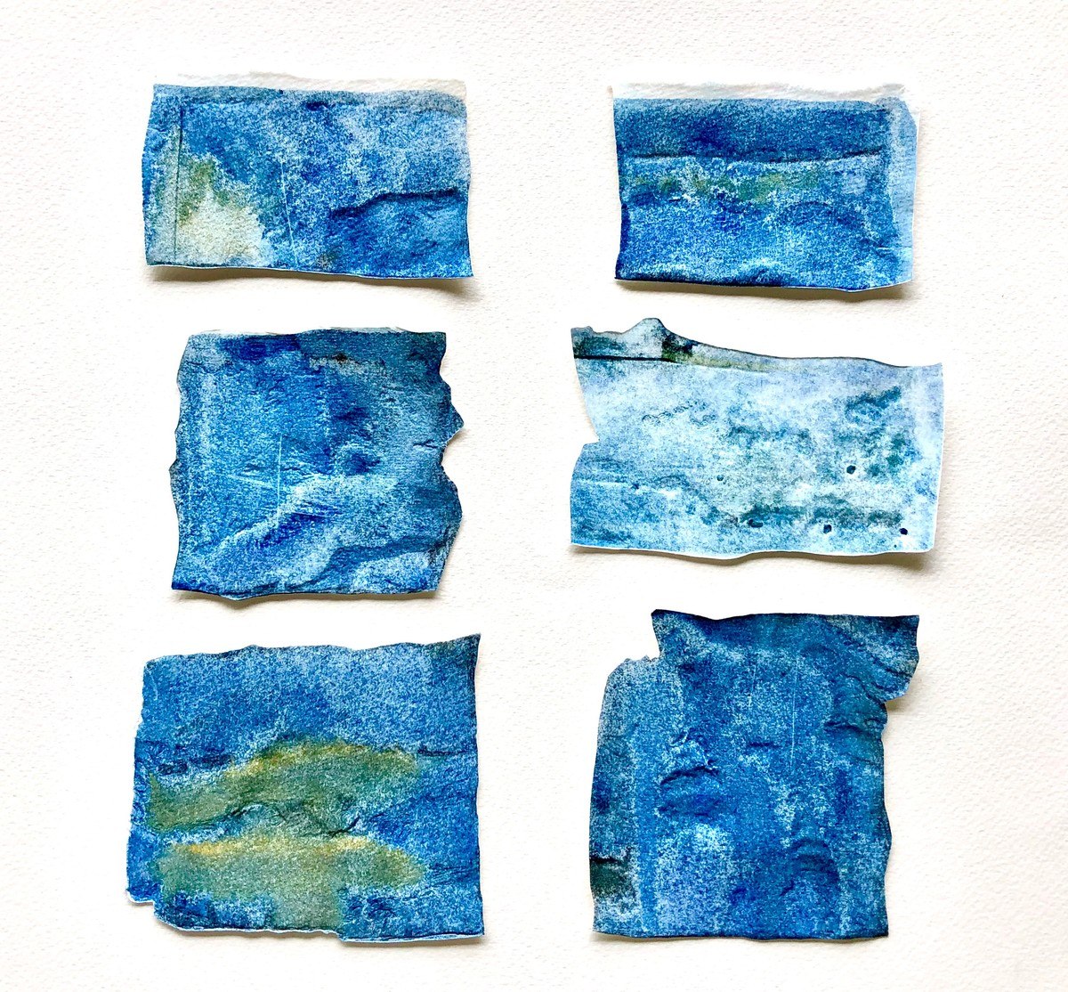 Short Stories - IV Reaching The Plateau by Wilson D'souza, Abstract Sculpture | 3D, Mixed Media on Paper, Cyan color