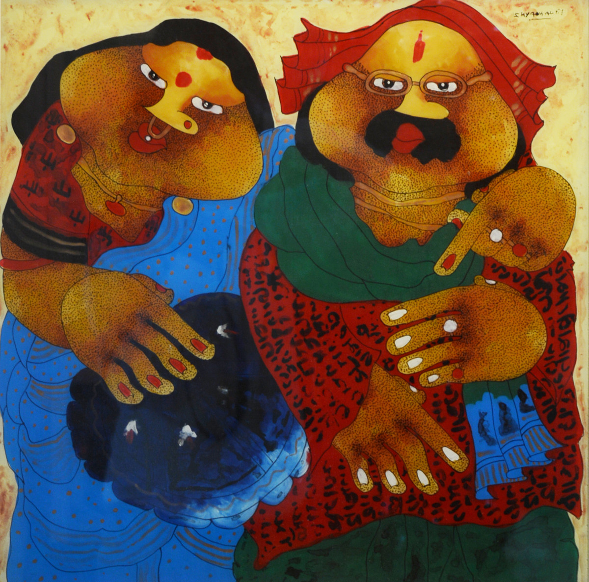 Untitled by Shyamal Mukherjee, Expressionism Painting, Acrylic on Acrylic Sheet, Brown color