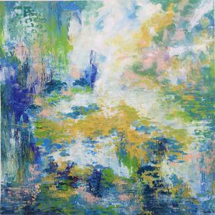 Reflections Digital Print by Tvesha Singh,Abstract