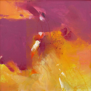 Untitled by Nishi Nitya sharma, Abstract Painting, Acrylic on Canvas, Purple color