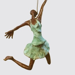 freedom by Shanta Samant, Art Deco Sculpture | 3D, Bronze, Gray color