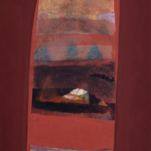 "Water colour, Gouache Powder Pigment on Arches Paper by Contemporary Artist ""In Stock"" by Tapas Ghosal, Abstract Painting, Watercolor on Paper, Brown color"