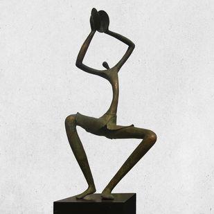 CHANTS by Atul Talukdar, Art Deco Sculpture   3D, Bronze, Gray color