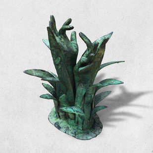 FOUNTAINHEAD - I by Atul Talukdar, Art Deco Sculpture | 3D, Bronze, Gray color
