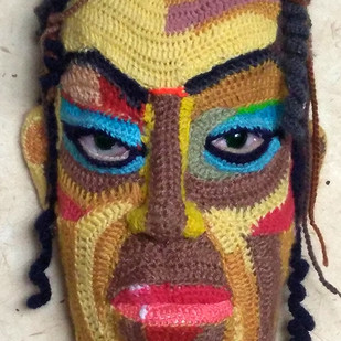 Face 24 by Archana Rajguru, Art Deco Sculpture | 3D, Mixed Media, Brown color