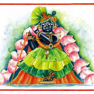Lalit Tribhangi Digital Print by Priyanka Joshi,Folk