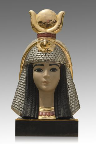 Head of Nefertiti by Unknown Artist, Art Deco Sculpture | 3D, Ceramic, Gray color