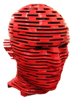 Identity by Naman Mahipal, Art Deco Sculpture | 3D, Wood, Red color