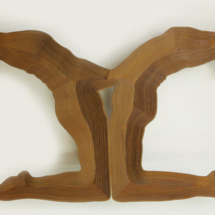 Reflection by Janarthanan R, Art Deco Sculpture | 3D, Iron, Gray color