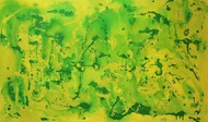 Flow by Harsh Johari, Abstract Painting, Acrylic on Canvas, Green color