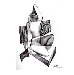 desire 1 by Jai Srivastava, Illustration Drawing, Acrylic on Acrylic Sheet, White color