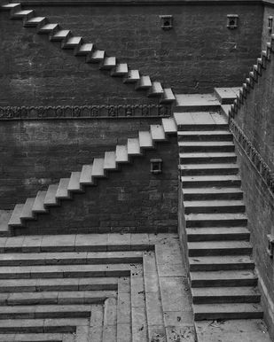 Steps. by Saify Akolawala, Image Photography, Digital Print on Archival Paper, Gray color
