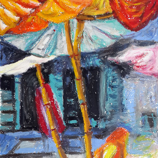 Women sitting under a tent Digital Print by Shalini Sinha,Expressionism