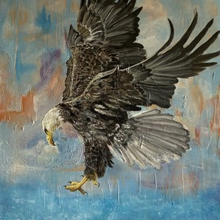 The eagle by Kanchan , Realism Painting, Acrylic on Canvas, Green color