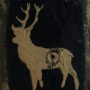 Oh Deer by Tanvi Chauhan, Decorative Painting, Acrylic on Canvas, Black color